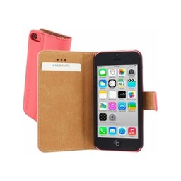 Mobiparts Mobiparts Premium Wallet Case Apple iPhone 5C Peach Pink