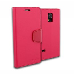 GOOSPERY Mercury Sonata Wallet Casevoor Galaxy S5 / S5 Plus / S5 Neo - Hot Pink
