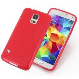 Galaxy S5 / S5 Plus / S5 Neo S Line TPU Case Rood