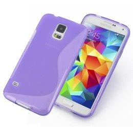 Galaxy S5 / S5 Plus / S5 Neo S Line TPU Case Paars