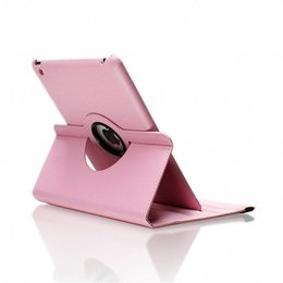 Apple iPad 360 Rotating Case Licht Roze