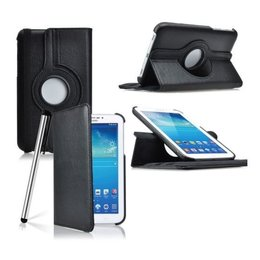 Samsung Galaxy Tab 4 7.0 Rotating Case Zwart