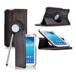 Samsung Galaxy Tab 4 7.0 Rotating Case Bruin