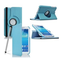 Samsung Galaxy Tab 4 7.0 Rotating Case Blauw