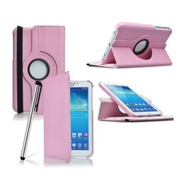 Samsung Galaxy Tab 4 7.0 Rotating Case Roze