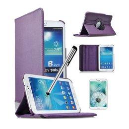 Samsung Galaxy Tab 4 8.0 Rotating Case Paars
