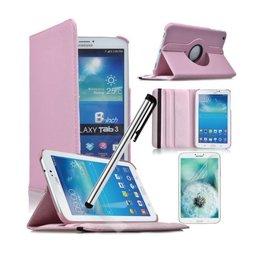 Samsung Galaxy Tab 4 8.0 Rotating Case Roze