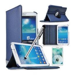 Samsung Galaxy Tab 4 8.0 Rotating Case Marine Blauw