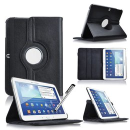 Samsung Galaxy Tab 4 10.1 Rotating Case Zwart