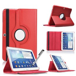 Samsung Galaxy Tab 4 10.1 Rotating Case Rood