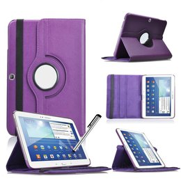 Samsung Galaxy Tab 4 10.1 Rotating Case Paars