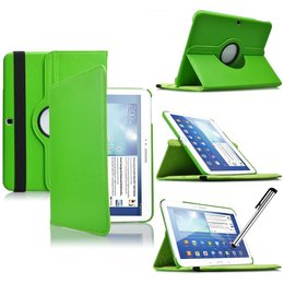 Samsung Galaxy Tab 4 10.1 Rotating Case Groen