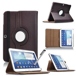 Samsung Galaxy Tab 4 10.1 Rotating Case Bruin