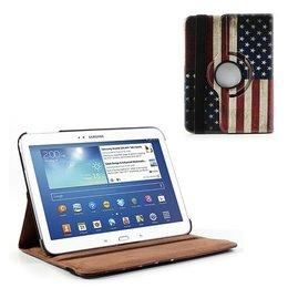 Samsung Galaxy Tab 3 10.1 Rotating Case USA Vlag