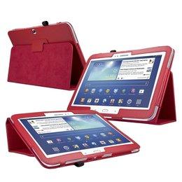 Samsung Galaxy Tab 3 10.1 Flip Folio Case Rood