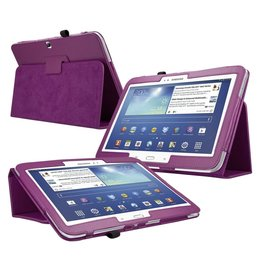 Samsung Galaxy Tab 3 10.1 Flip Folio Case Paars