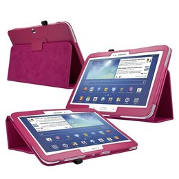 Samsung Galaxy Tab 3 10.1 Flip Folio Case Donker Roze