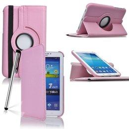 Samsung Galaxy Tab 3 7.0 Rotating Case Roze