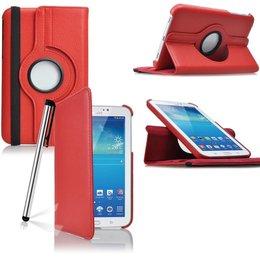 Samsung Galaxy Tab 3 7.0 Rotating Case Rood
