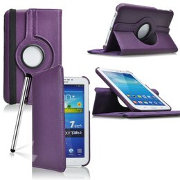 Samsung Galaxy Tab 3 7.0 Rotating Case Paars