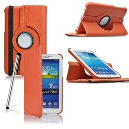Samsung Galaxy Tab 3 7.0 Rotating Case Oranje