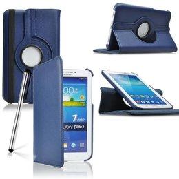 Samsung Galaxy Tab 3 7.0 Rotating Case Marine Blauw