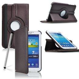 Samsung Galaxy Tab 3 7.0 Rotating Case Bruin
