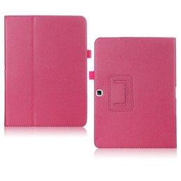 Samsung Galaxy Tab 4 10.1 Flip Folio Case Donker Roze