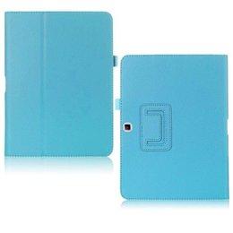 Samsung Galaxy Tab 4 10.1 Flip Folio Case Blauw