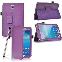 Samsung Galaxy Tab 3 7.0 Flip Stand Case Paars
