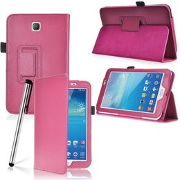 Samsung Galaxy Tab 3 7.0 Flip Stand Case Donker Roze