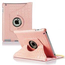 Apple iPad Air (iPad 5) 360 Rotating Case Croco Roze