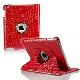 Apple iPad Air (iPad 5) 360 Rotating Case Croco Rood