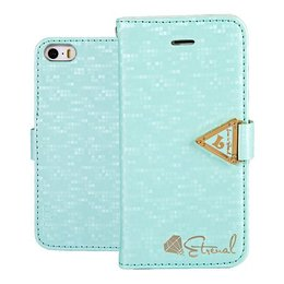 Leiers Eternal Luxe Wallet Case Portemonnee Turqoise iPhone 5 / 5S