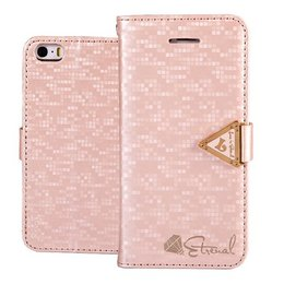 Leiers Eternal Luxe Wallet Case Portemonnee Roze iPhone 5 / 5S