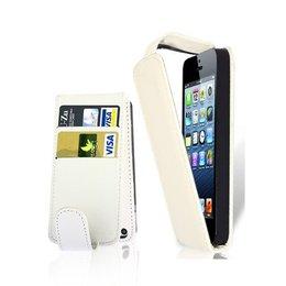 Verticaal Flip Portemonnee Case Wit iPhone 5 / 5S / SE