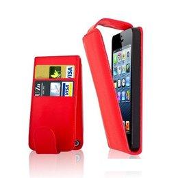 Verticaal Flip Portemonnee Case Rood iPhone 5 / 5S / SE