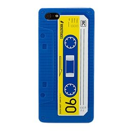 iPhone 4 / 4S Retro Casette Silicone Back Case - Blauw