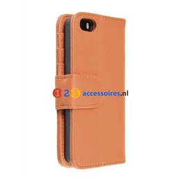 iPhone 5 / 5S / SE Wallet Case Portemonnee Bruin