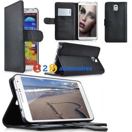 Samsung Galaxy Note 3 N9000/N9005 Wallet Case- Zwart
