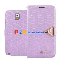 Leiers Eternal Galaxy Note 3 N9000/N9005 Cover Case Portemonnee Paars