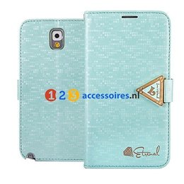 Leiers Eternal Galaxy Note 3 N9000/N9005 Cover Case Portemonnee Turqoise