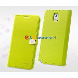 DER Ailun Galaxy Note 3 Luxe Wallet Case Portemonnee - Groen