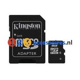 Kingston 8GB microSDHC kaart Class 4 met adapter