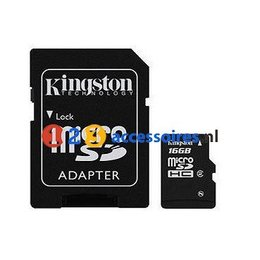 Kingston 16GB microSDHC kaart Class 10 met adapter