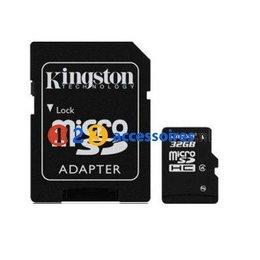 Kingston 32GB microSDHC kaart Class 10 met adapter