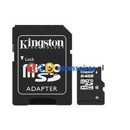 Kingston 64GB microSDHC kaart Class 10 met adapter