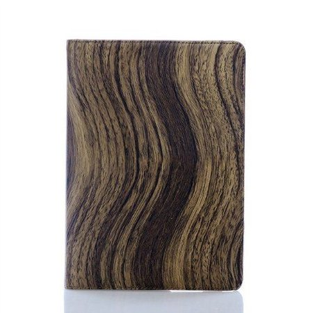360 Rotating cover hoesje voor iPad Mini Wood Style Donker Bruin
