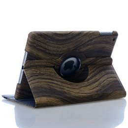 Apple iPad 360 Rotating Case Wood Style Donker Bruin