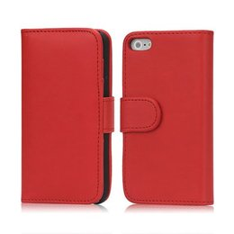 iPhone 5 / 5S / SE Wallet Case Portemonnee Rood